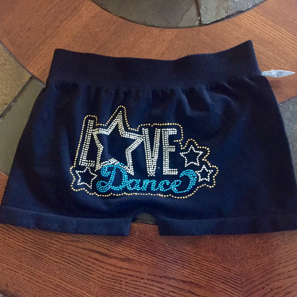 Idea Kids Love Dance Shorts Turq - JEN'S KIDS BOUTIQUE