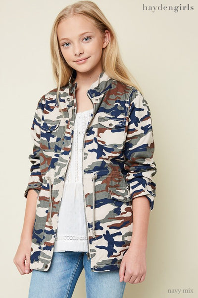 Hayden 2017 Fall Camo Cargo Jacket Navy Mix