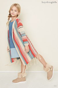 Hayden 2017 Fall Aztec Long Cardigan Tan