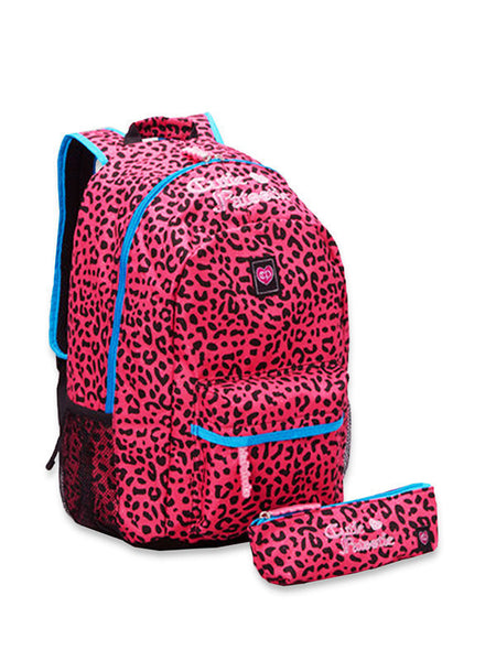 Cutie Patootie Hot Pink cheetah backpack And Pencil Case - JEN'S KIDS BOUTIQUE
