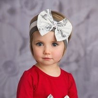 She Bloom  Grey Headband - JEN'S KIDS BOUTIQUE