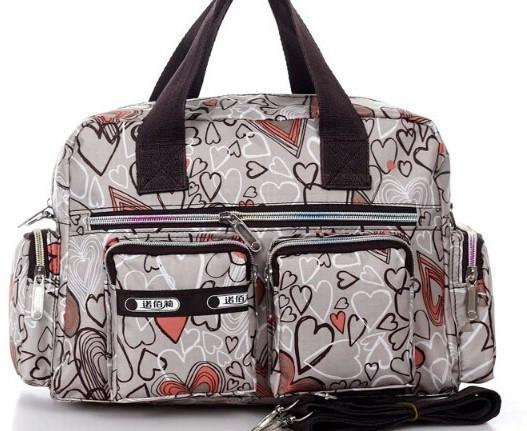 Adorables Gray Heart Small Diaper Bag - JEN'S KIDS BOUTIQUE