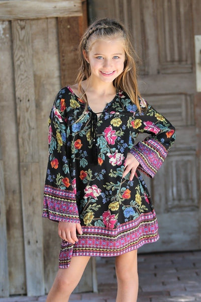 Spring Adorable Kids Floral Fun Dress - JEN'S KIDS BOUTIQUE