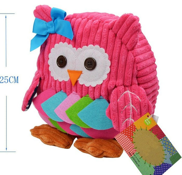 Toddler Corduroy Hot Pink Owl Back Pack - JEN'S KIDS BOUTIQUE