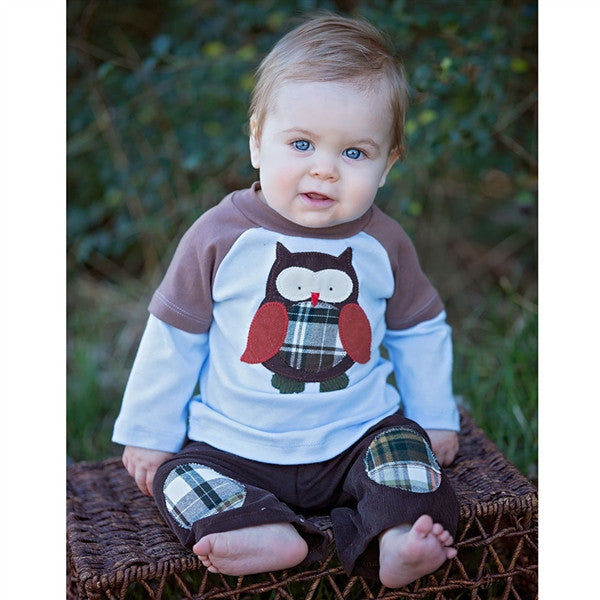 Haute Baby What A Hoot Infant Pant Set - JEN'S KIDS BOUTIQUE