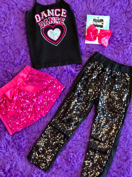 Idea All About Dance Sequin Top - JEN'S KIDS BOUTIQUE