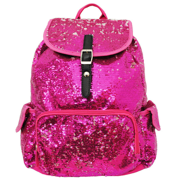 Spirit Sequin Bling Large Backpack Pink - JEN'S KIDS BOUTIQUE