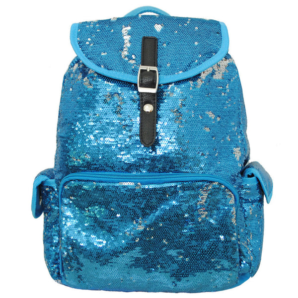 Spirit Sequin Bling Large Backpack AQUA - JEN'S KIDS BOUTIQUE