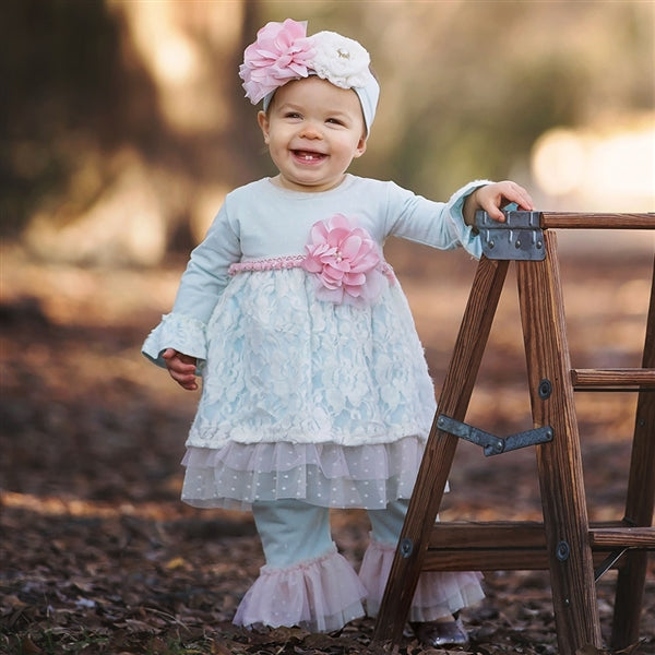 2018 Fall Haute Baby Fairy Frost Infant & Toddler Swing Set - JEN'S KIDS BOUTIQUE