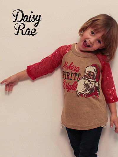Southern Grace Christmas Holiday Kids Making Spirts Bright Sequin Shirt - JEN'S KIDS BOUTIQUE