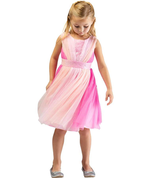 2019 SPRING & SUMMER MIXED PINK BONNIE JEAN KIRA SEQUIN TULLE DRESS - JEN'S KIDS BOUTIQUE