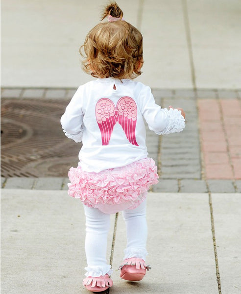 Ruffle Butts 2017 Fall White Footless Tights - JEN'S KIDS BOUTIQUE