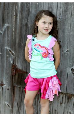 2018 Spring Lemon Loves Lime Candy Ribbon Shorts - JEN'S KIDS BOUTIQUE