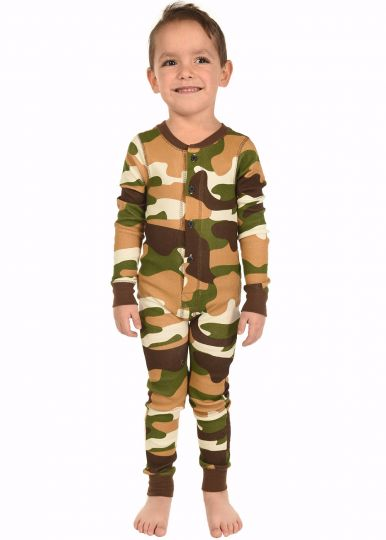 Lazy Z 2017 Buck Naked Camo Kids Flapjack Pajamas - JEN'S KIDS BOUTIQUE