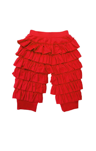Lemon Loves Lime Ruffle Red Infant Pants - JEN'S KIDS BOUTIQUE