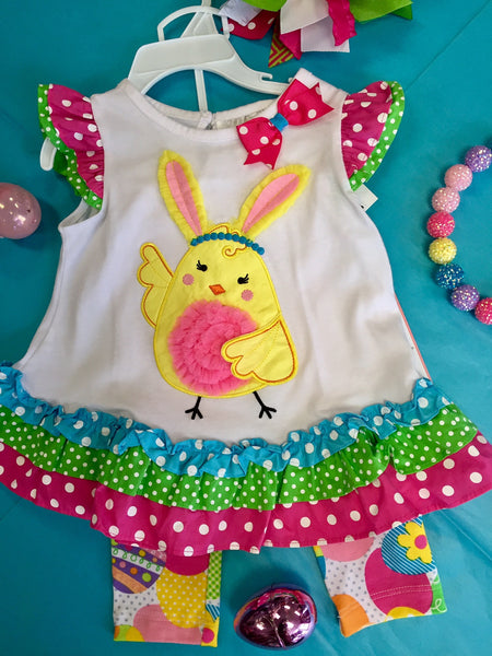Rare Editions Easter Bunny/Chick pant Set - JEN'S KIDS BOUTIQUE