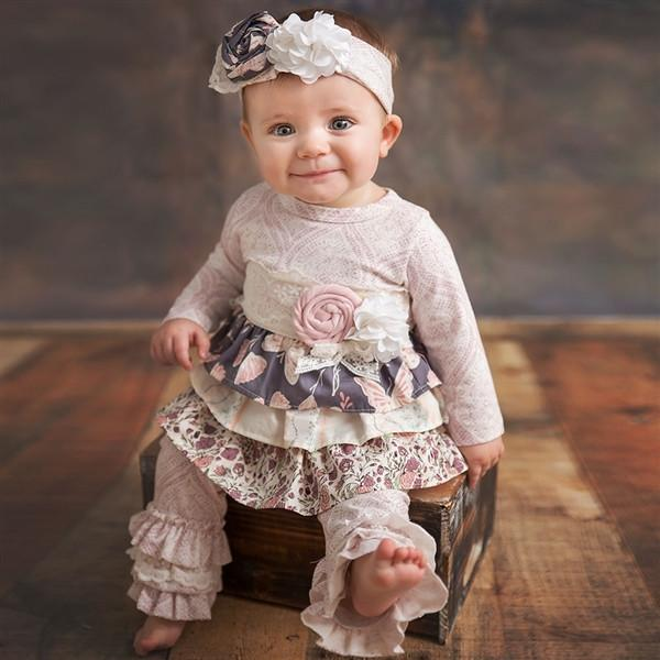 Haute Baby Boutique Infant /& Toddler Girls Summer Blooms Short Set 0//3m-4t