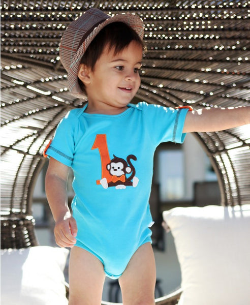 Rugged Butts Boys Monkey Fun 1st Birthday One-piece Onesie - JEN'S KIDS BOUTIQUE