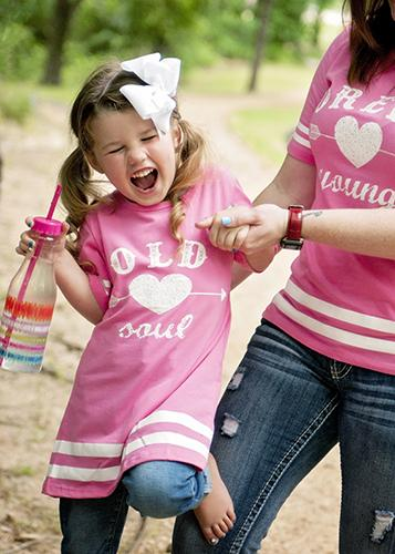 2018 Spring Pink Old Soul Kids Girls Shirt - JEN'S KIDS BOUTIQUE