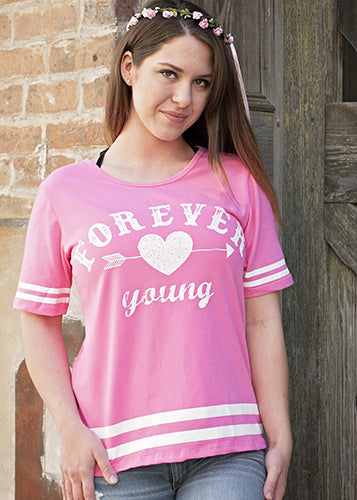 2018 Spring Forever Young Women's Shirt - JEN'S KIDS BOUTIQUE