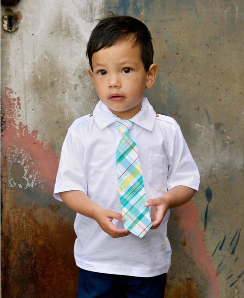 Rugged Butts Boys Finn Plaid Seersucker Tie - JEN'S KIDS BOUTIQUE