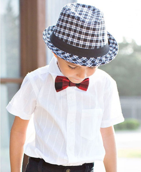 Rugged Butts Boys Plaid Fedora - JEN'S KIDS BOUTIQUE