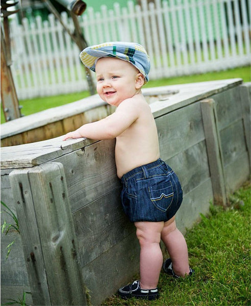 Rugged Butts Boys Madras Plaid Drivers Cap - JEN'S KIDS BOUTIQUE
