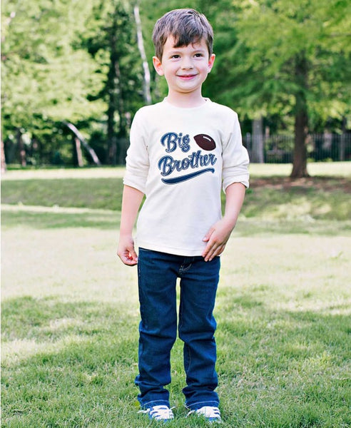 Rugged Butts 2017 Fall Big Brother Long Sleeve Football Tee - JEN'S KIDS BOUTIQUE