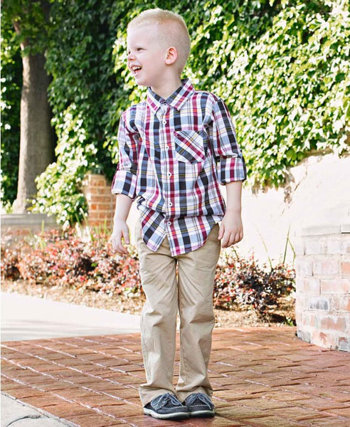 Rugged Butts 2017 Boys Taylor Plaid Button Down Shirt - JEN'S KIDS BOUTIQUE