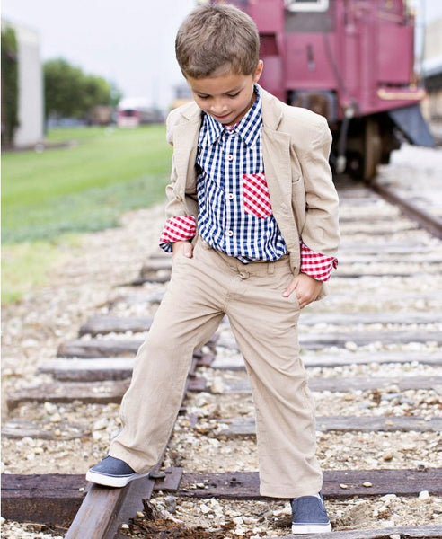 Rugged Butts Boys Khaki Corduroy Pants - JEN'S KIDS BOUTIQUE
