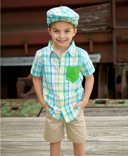 Rugged Butts Finn Boys Plaid Shirt - JEN'S KIDS BOUTIQUE