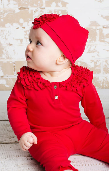 Lemon Loves Layette Coco Red Shirt - JEN'S KIDS BOUTIQUE