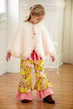 Peaches and Cream Ivory Lace Cape CH - JEN'S KIDS BOUTIQUE