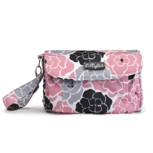 Demdaco pink floral diaper clutch - JEN'S KIDS BOUTIQUE