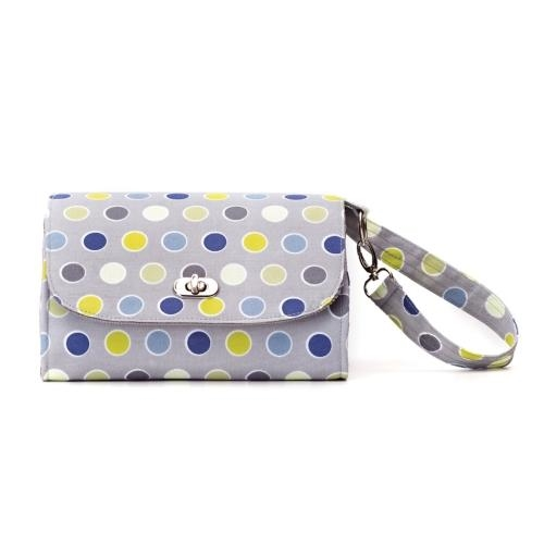 Demdaco LBIT Polka Dot Diaper Clutch - JEN'S KIDS BOUTIQUE