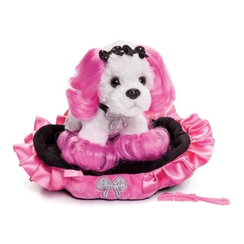 Demdaco Princess of Beverly Hills  Puppy Bag  plush and bed set - JEN'S KIDS BOUTIQUE