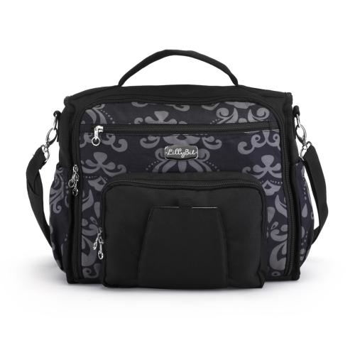 Demdaco damask messenger backpack diaper bag - JEN'S KIDS BOUTIQUE