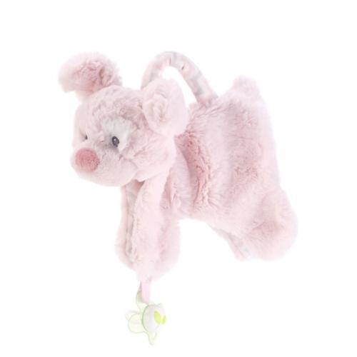 Demdaco Pink Puppy Pacifier Holder and Blankie - JEN'S KIDS BOUTIQUE