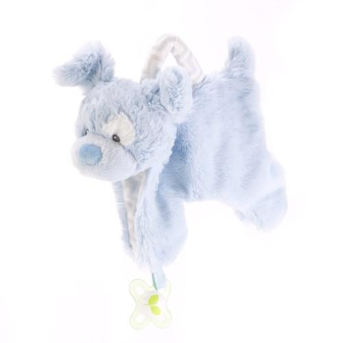 Demdaco Blue puppy Pacifier Holder and Blankie - JEN'S KIDS BOUTIQUE
