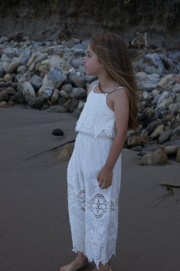Hannah Banana White Fancy Long Jumper - JEN'S KIDS BOUTIQUE