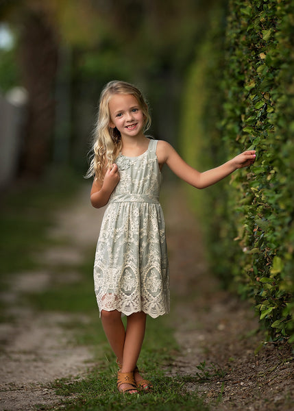 Spring Isobella & Chloe Slate Airy Dream -Dress C - JEN'S KIDS BOUTIQUE