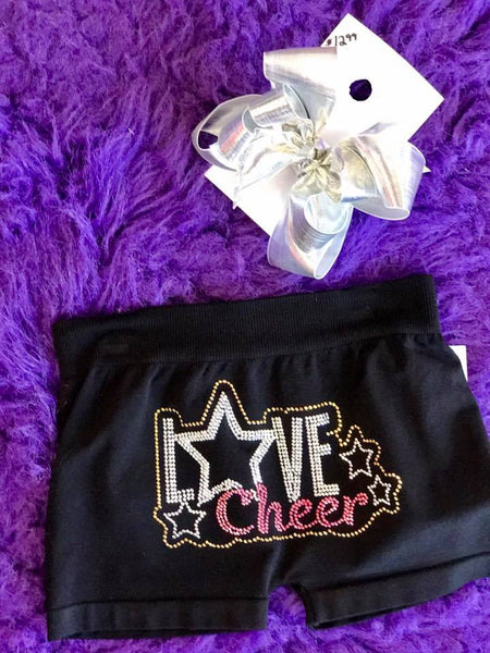 Idea Kids Love Cheer Shorts Hot Pink