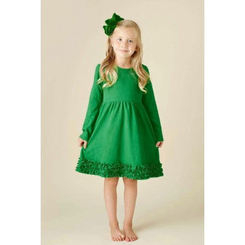 Perfect 2017 Christmas Ruffle Green Dress - JEN'S KIDS BOUTIQUE