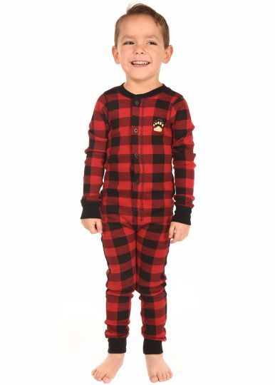 Lazy Z 2018 Bear Cheeks Plaid Kids Flapjack Pajamas - JEN'S KIDS BOUTIQUE