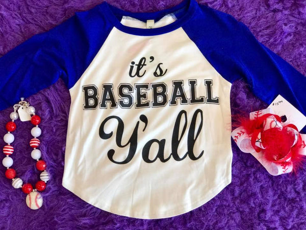 Game Day 2017 Fall Kids It's Baseball Y'all Ready Baseball Top - JEN'S KIDS BOUTIQUE