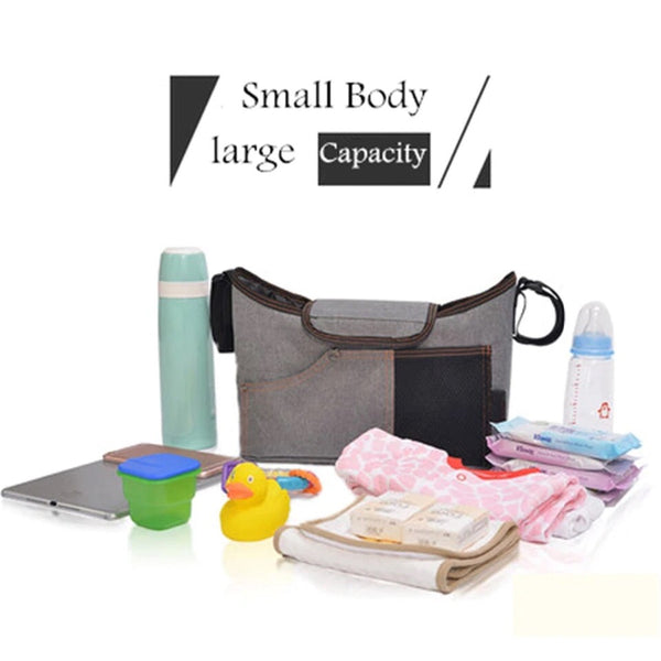 Mommy Multi Stroller Organizer & Diaper Bag Gray - JEN'S KIDS BOUTIQUE