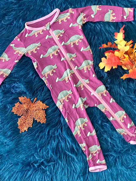 New Fall Kickee Pants Coverall With Zipper (Euoplacephalus) - JEN'S KIDS BOUTIQUE