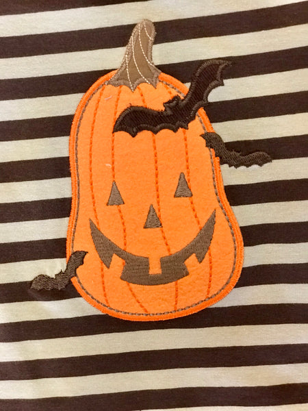 Boys Wally and Willie Stripped Pumpkin Long/Sleeve Shirt - JEN'S KIDS BOUTIQUE