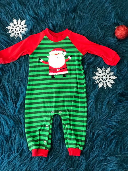 Wally & Willie Kriss Kringle Christmas Boys Holiday Romper - JEN'S KIDS BOUTIQUE