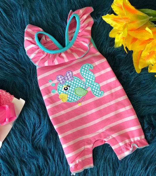 Summer Three Sisters Little Fish Romper - JEN'S KIDS BOUTIQUE